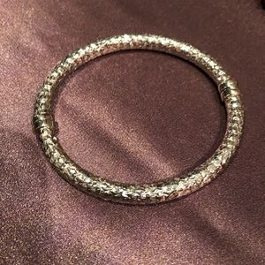 Jewelry - Sterling silver diamond cut bangle from Italy